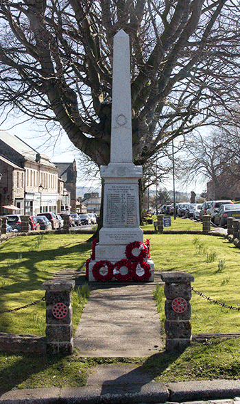 The War Memorial in Middleton in Teesdale
